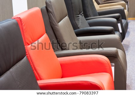 Showroom for retail of luxury armchairs
