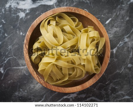 shows a type of dried pasta