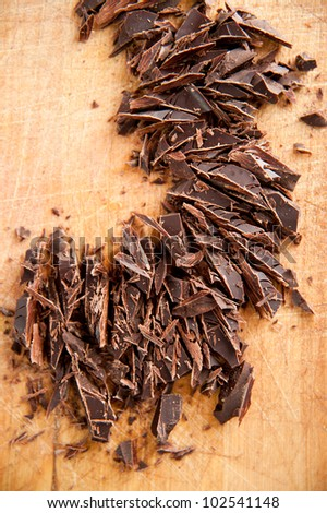 Shredded Dark Chocolate for Cooking