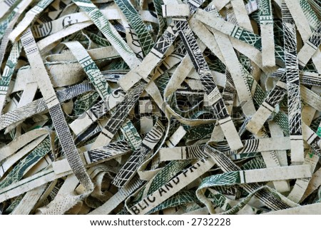 Shredded money from a federal reserve bank.