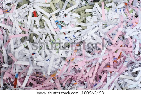Shredded paper background, colordul