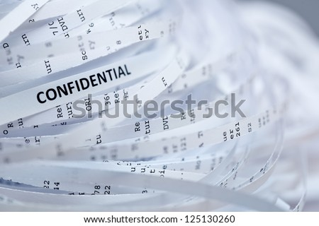 Shredded paper series - confidential