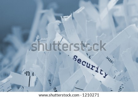 Shredded paper with text. Concept: Security concerns.