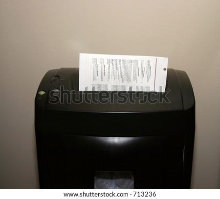 "Shredding Secret Documents  ""For Your Eyes Only"""