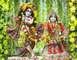 Shri Krishna and Radha Photo Capture at Shri Krishna Janmashtami