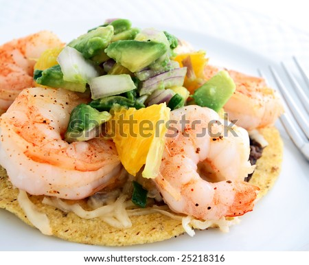 Shrimp, Black Bean, And Avocado Tostada Recipes — Dishmaps