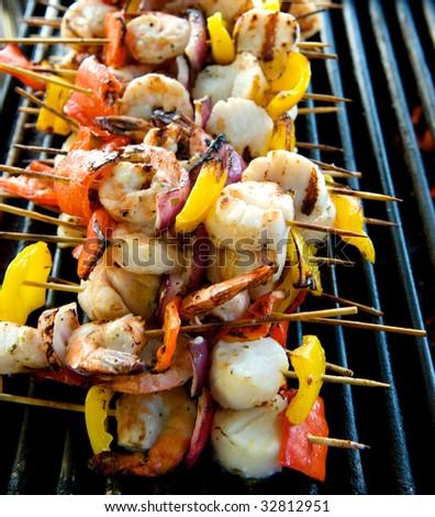 Grilled Shrimp And Vegetable Kabobs | PartyBluPrints.com