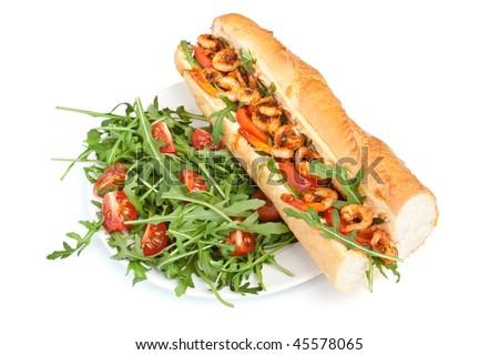 Shrimp Po-Boy sandwich