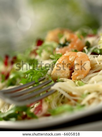 shrimp salad - swallow DOF