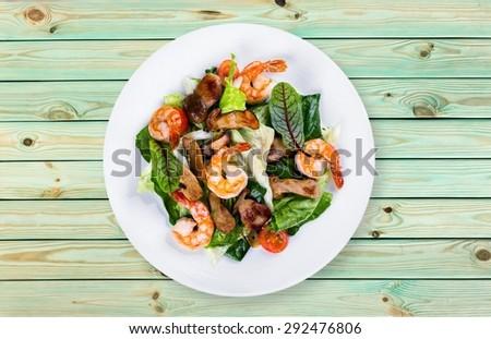 Shrimp, seafood, dish.