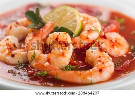 Shrimp, Seafood, Prepared Shrimp.