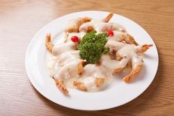Shrimp with Cream Sauce