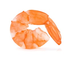 shrimps isolated on a white background