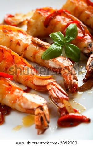 Shrimps with chili