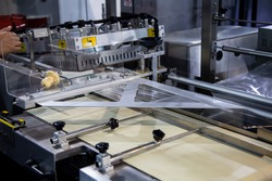 Shrink film wraping machine in food industry