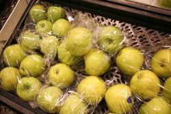 Shrinked fresh goods in supermarket