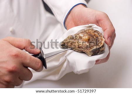 shucking of oyster