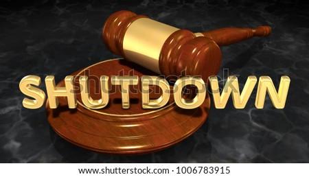 Shutdown Concept 3D Illustration