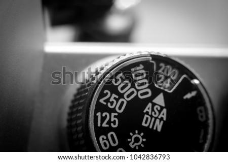 shutter wheel of old film...