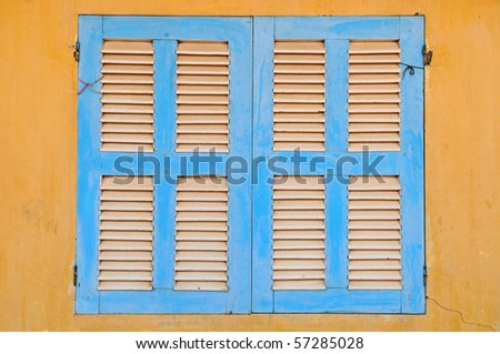 Shutters closed - stock photo