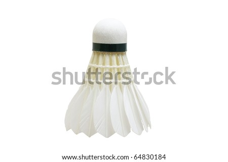 shuttle cock isolated in white background