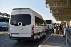 shuttle of transfer service in airport