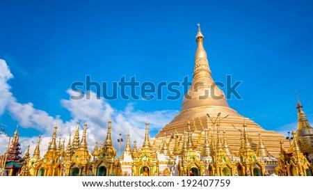Shwedagon pagoda in Yagon Myanmar