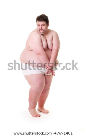 stock photo shy and sexy extreme fat guy isolated on white 49691401 fat and sexy07 Fat and Sexy