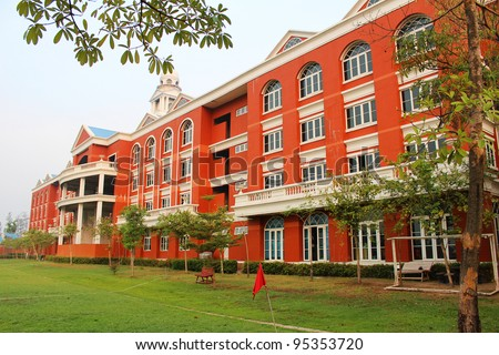 Siam International school in Bangkok, Thailand. - stock photo
