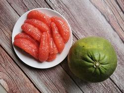 Siam ruby pomelo, fresh from farm