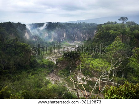 Sianok Canyon, a natural geological wonder of Bukittinggi, West Sumatera, Indonesia