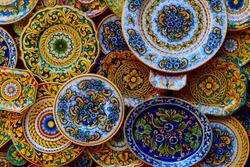 Sicilian ceramica in Cefalù, handmade