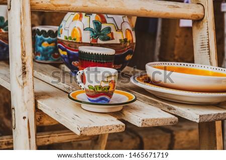 Sicilian handicraft art bright ceramics
