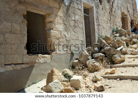 Sicilian towns after earthquake in valley Belice. #1037879143