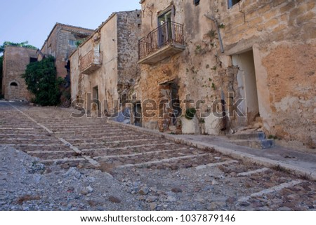 Sicilian towns after earthquake in valley Belice. #1037879146