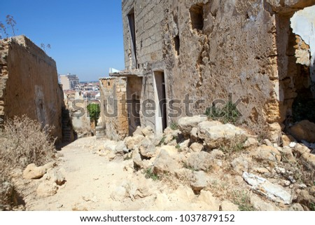 Sicilian towns after earthquake in valley Belice. #1037879152