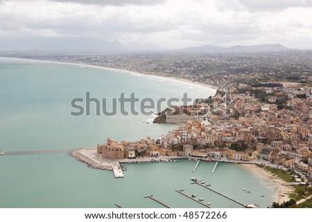 Sicilian village harbor landscape