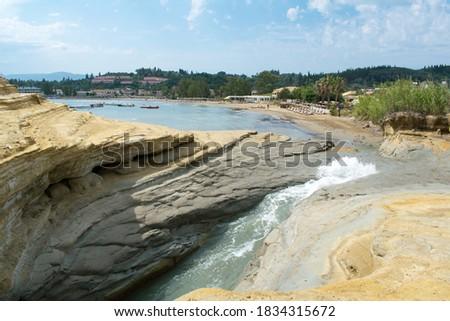Photo of  Sidari beach as seen from Canal d'Amour on Corfu island, Greece