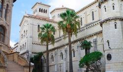 Side facade of Saint Nicholas Cathedral, Monaco.