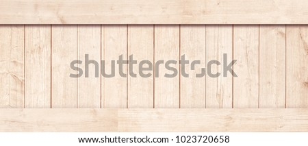 Side of new brown wooden crate, box, planks, floor or frame for text or message #1023720658