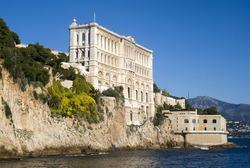 Side of Oceanographic Institute in Principality of Monaco