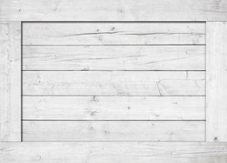 Side of white wooden crate, box, wall or frame