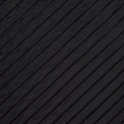 Side Pleated Silk Mesh Fabric Texture in Black.