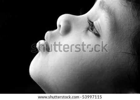 Side profile of an Indian Kid