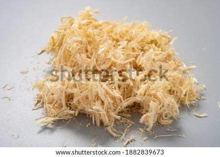 side view herb ZhuRu or Bambusae Caulis in Taenias or Bamboo Shavings Foto stock ©