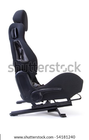 Side view of a car seat without vehicle on a white background #54181240