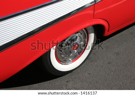 Side view of a '57 Chevy
