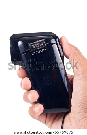 Side View of a Hand Held 10 Megapixel Camera