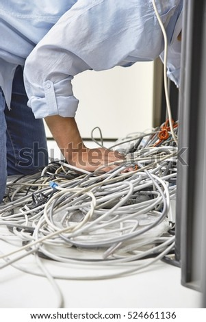 Free photos Closeup of tangled computer wires on tiled floor in ...