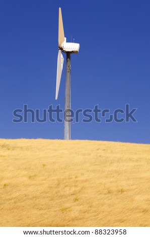 Side view of a windmill.